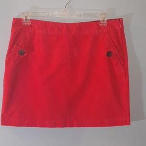 Vinyard Vines Coral Corduroy Skirt Size 14
